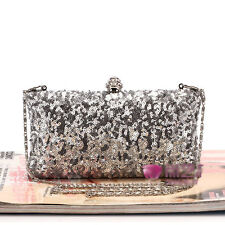 Sequins Women Clutch Bags Handbag Evening Party Wedding Bridal Bag Satchel Purse