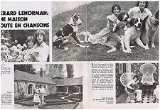 COUPURE DE PRESSE CLIPPING 1975 G.LENORMAND une maison toute en chanson 2 pages