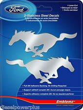 ford mustang emblem tag chrome adhesive sticker 3m stainless steel decals horse