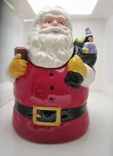 Dear Santa Christmas Holiday Cookie Jar J. Wecker Frisch Canterbury Potteries