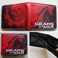 2017 New  EPIC GAME Gears of War Logo wallets Purse Red 12cm Leather Man women