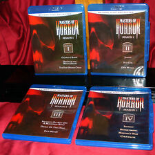 'MASTERS OF HORROR' Blu-ray Volumes 1-4 Complete, Mint