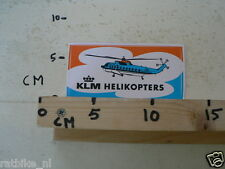 STICKER,DECAL KLM HELIKOPTERS, HELICOPTER
