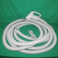 30' Crush Proof Central Vac Vacuum Hose Dual Switch Gas Pump Handel w/ Pigtail