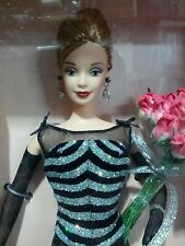 "40TH ANNIVERSARY BARBIE 11"" Blonde Doll 1999 Collector Edition NRFB Striped Gown"