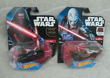 "Hot Wheels Star Wars Character Car 2-Pack - ""Kylo Ren"" & ""The Inquisitor"" ~ NEW"
