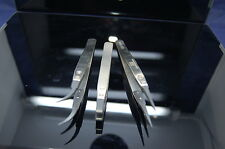 3 piece high quality carbon fiber tipped anti static tweezers fits iphone,nokia