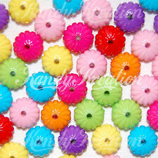 50 Chunky Pony Beads for Bubblegum Necklace Kandi Flower Rave Kid Craft Spacers