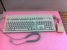 Vintage Genuine Apple Extended Keyboard II M3501 w/ Mouse G5431 TESTED - K301