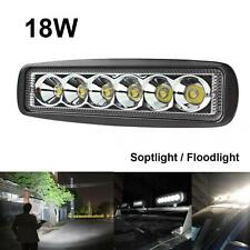 6Inch 12V 1550LM 18W 6x 3W LED Work Light Car Bar Fog Drive Floodlight Headlamp