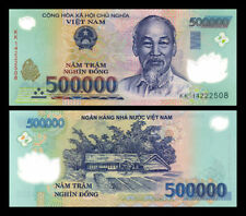 1 MILLION Vietnam Dong 2 x 500,000 Circulated Banknotes 2 x 500000 VND