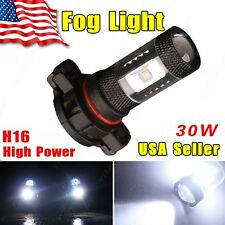 1xCool White H16 LED 5202 5201 High Power 30W Fog Light DRL Driving Lamp PS24WFF