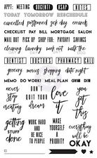 Prima Marketing Inc: Frank Garcia Planner Accessories - Clear Stamps Everyday
