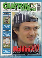 GUERIN SPORTIVO-1995 n.19- MALDINI 400-MOGGI -FILM-INSERTO USA LA DOPPIA