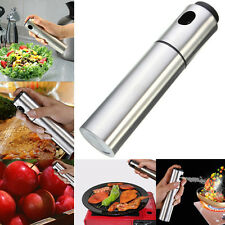 1pc Stainless Steel Pump Olive Spray Fine Bottle Oil Sprayer Pot Cooking Tool