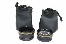 2Pc Kit Pro HD Wide Angle & Telephoto Lens for Fujifilm Finepix HS20EXR HS22EXR