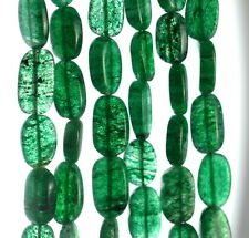 10X6-14X8MM GREEN MOSS AVENTURINE GEMSTONE PEBBLE NUGGET LOOSE BEADS 13-14""