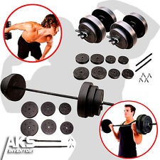 Weight Sets 100lb Barbell & 40lb Dumbell Free Weights Home Gym Fitness Equipment
