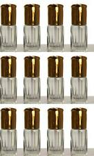 6 X EMPTY ATTAR PERFUME BOTTLES 6ML  CLEAR BOTTLES WITH STICKS