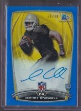 2014 Bowman Chrome Isaiah Crowell Blue Refractor On Card Auto Rc Serial # to 99