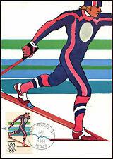 Estados Unidos 1984 Juegos Olímpicos de invierno esquí nórdico máximo Tarjeta #c 18565