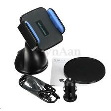 Qi Wireless Car Charger Cradle 360° Holder For Samsung Galaxy C7 S7 7 S6 6 Edge