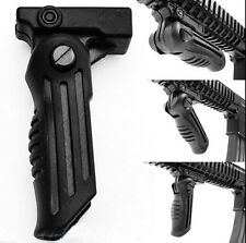 Hunting Folding Foldable Foregrip 5 Position for Picatinny/Weaver Rail Type