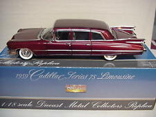 CADILLAC FLEETWOOD  LIMOUSINE MAROON 1959 PRECISION MINIATURES 1/18 NICE CAR GM