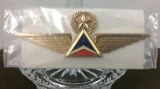 DELTA AIRLINES ~ Vintage Captain Pilot Wings Pin~ Star Top CARDED W/ Name