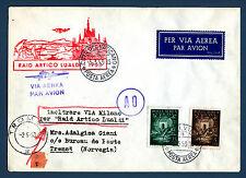 VATICANO - Raid Artico Lualdi (1953) su aerogramma a Tromsöe - (MR)