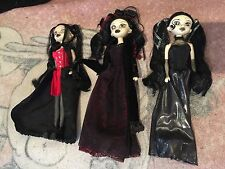 Bleeding Edge Goth Doll Series 5 Exclusives - Annabelle  Leda  Red Riding Storm
