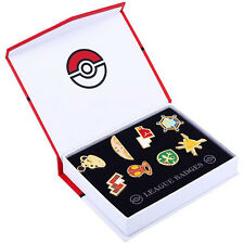 Cosplay POKEMON Gym Badges in box Kalos League Set 8pcs Badge Pin