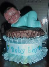 AFRICAN AMERICAN DIAPER CUPCAKES BABY SHOWER GIFT CAKES FAVOR CENTERPIECE
