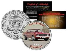 1969 CHEVROLET CAMARO ZL1 Auction Muscle Car Colorized JFK Half Dollar US Coin