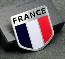 Metal Auto Racing Sports Emblem Badge Decal Sticker For France French Flag NEW
