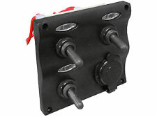 ELECTRIC 3 GANG LED TOGGLE 1 POWER SOCKET SWITCH PANEL FOR BOAT – FIVE OCEANS