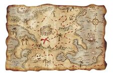 Treasure Map Hunt- Huge Poster  22 x 34 INCH - ( Fast Shipping )  115