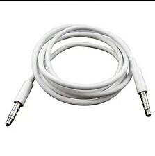 New AUX audio cable car adapter white for Apple Sumsung 3.5 mm