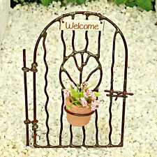 Gate Flower Pot Welcome Sign ~ Fairy Garden ~  Miniature ~ Handmade by Jennifer