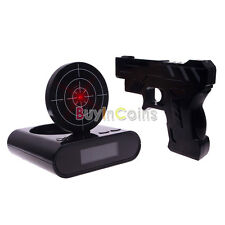 Novelty Funny LCD Shooting Game Target Panel Gun Alarm Clock Gadget Gift Toy RS