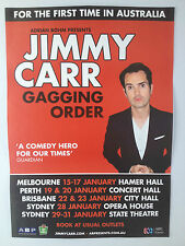 JIMMY CARR 2014 Australian Tour Poster A2 Gagging Order Funny Business ***NEW***
