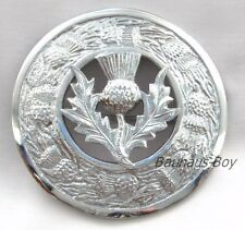 KILT PLAID BROOCH SCOTTISH THISTLE CREST CENTER & THISTLES BORDER KILTWEAR KILTS