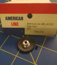 AML 2042 Spur Gear 48p 42T Black 1/8 axle 1/24 slot car from Mid America