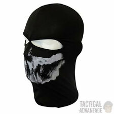 Ghost Skeleton Skull 2 Hole Balaclava Face Mask Ski Motorcycle Airsoft Hat Neck