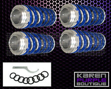 Blue JDM Adjustable Suspension FRONT+REAR Coilover Lowering Spring Sleeve Kit