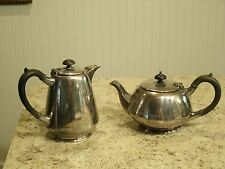 Vintage Lot of 2 Walker Hall Sheffield Silverplate Teapot and Coffee Pot England