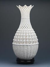 Chinese Porcelain Hand-carved  Hollowed Art White Vase G179