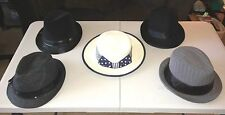 5pc. Lot Women's Mix Brand Fedora & Straw Hats/Candie's,Divided HM,etc./One Size