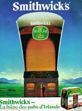 Publicité advertising 1984 La Bière Smithwicks Irlande Irlandais