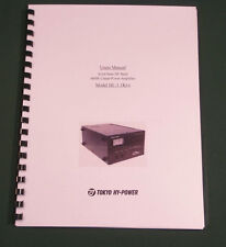 Tokyo Hy-Power HL-1.1KFX Instruction Manual - Card Stock Covers & 28lb Paper!